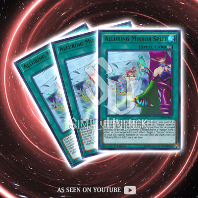 ALLURING MIRROR SPLIT x3 | Ultra Rare | LED4-EN003 Sisters of the Rose YuGiOh