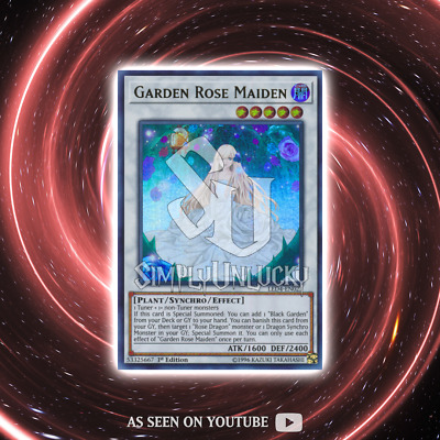 GARDEN ROSE MAIDEN | Ultra Rare | LED4-EN023 Sisters of the Rose YuGiOh