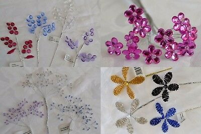 Beautiful wired embellishments floral wedding flowers posy bouquet corsage