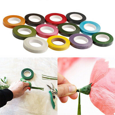 Hot! Floral Stem Wrap Florist Artificial Flower Tape Wire Corsage Craft 12 Color