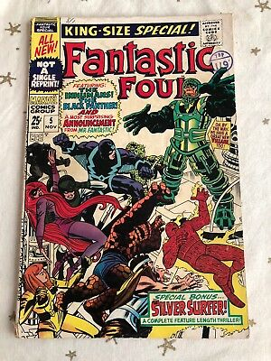 Fantastic Four Annual 5. 1967. Inhumans, Black Panther. Also First Solo Surfer