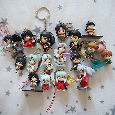 lot Figurines japon Inuyasha Gashapon keychain phone strap Anime Bandai