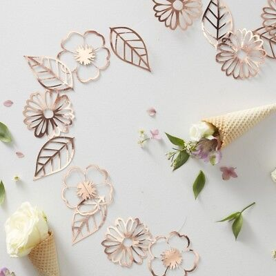 3m Delicate Foiled Rose Gold flower garland wedding birthday venue decoration
