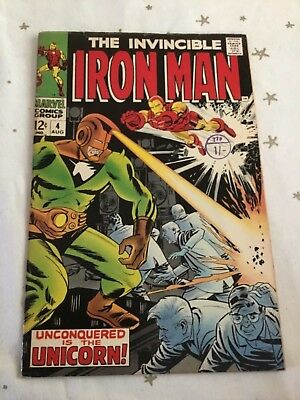 Invincible Iron Man  #4. August 1968