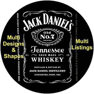 Jack Daniels Cake Topper Decoration Plain Or Personalised Edible Icing & Wafer