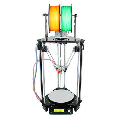 GOOD SALE!Geeetech Auto Level Kossel Delta Rostock G2s dual extruder 3D Printer