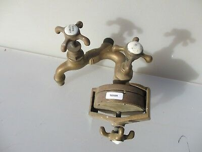 "French Antique Brass Water Filter Taps ""Christallin Filtre"" Victorian Tap Faucet"