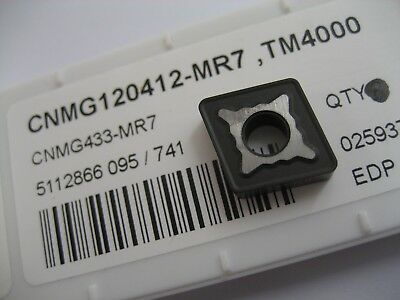 1 x CNMG120412-MR7 (CNMG433-MR7) TM4000 SOLID CARBIDE TURNING INSERTS SECO  #58