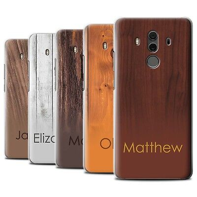 Personalised Custom Wood Grain Effect Phone Case for Huawei Mate 10 Pro/Initial