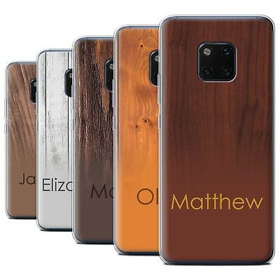 Personalised Custom Wood Grain Effect Case for Huawei Mate 20 Pro/Initial Gel
