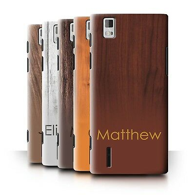 Personalised Custom Wood Grain Effect Phone Case for Huawei Ascend P2/Initial
