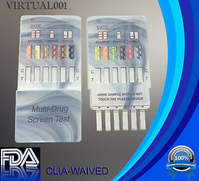 (100 Pack)  12 Panel Urine Dip Instant Drug Test, FDA Approved, CLIA waived