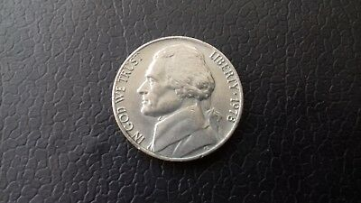 1978 USA 5 Cent Nickel Coin Collectible. Quite Good Condition & Quite Rare. USED
