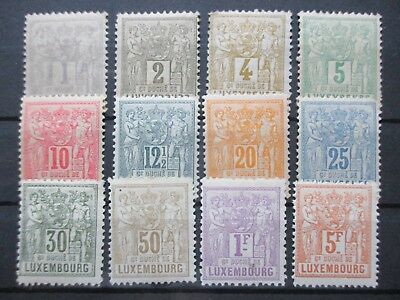 Lot [1] LUXEMBOURG - 1882-1891 - YT#47-58 - MINT LIGHTLY HINGED