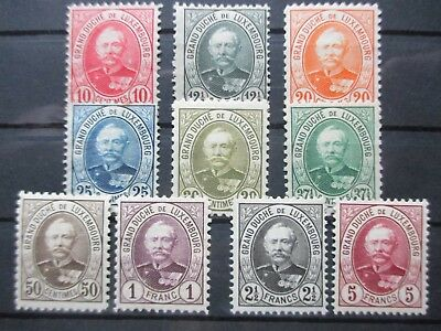 Lot [2] LUXEMBOURG - 1891-1893 - YT#59-68 - MINT HINGED