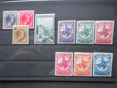 Lot [7] LUXEMBOURG - 1934-1935 - YT#249-257 - MINT HINGED