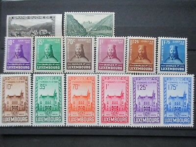 Lot [9] LUXEMBOURG - 1935-1936 - YT#274-287 - MINT HINGED