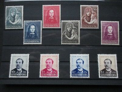 Lot [12] LUXEMBOURG - 1950 - YT#433-442 - MINT HINGED