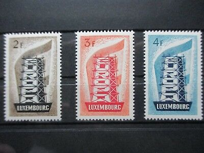 Lot [16] LUXEMBOURG - 1956 - EUROPE - YT#514-516 - MINT LIGHTLY HINGED