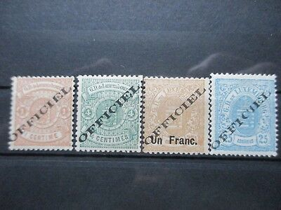 Lot [27] LUXEMBOURG - SERVICE STAMPS - 1878-1881 - YT#10#12#17#18 - MINT HINGED