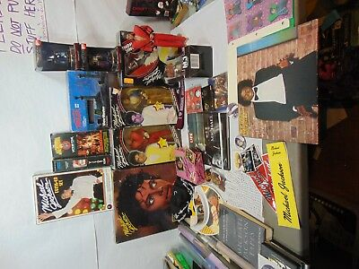 Michael Jackson Collector Lot Dolls View-Master Posters Vinyl DVD & Much More!!