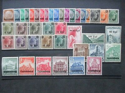 Lot [34] LUXEMBOURG - GERMAN OCCUPATION - 1940-41 - YT#1-41 - MINT HINGED