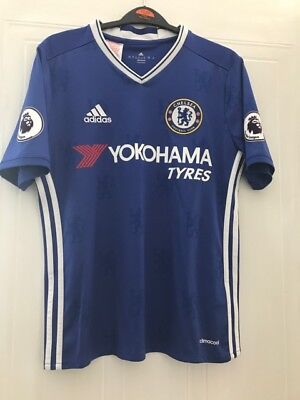 Chelsea Football Club Shirt - Kante - With badges - Boys 13 - 14 Yrs Excellent
