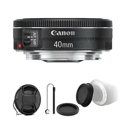 Canon EF 40mm f/2.8 STM Lens and Accessory Bundle for Canon T6 , T6i and T7i