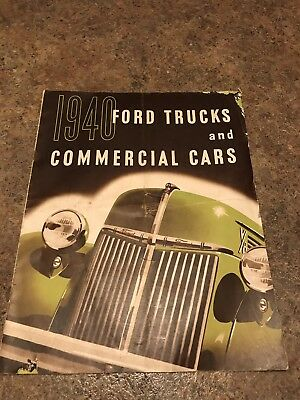 1940 FORD TRUCKS and COMMERCIAL CARS BRO. 16pg