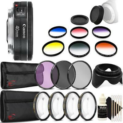 Canon EF 40mm f/2.8 STM Lens and Accessories for Canon DSLR Cameras
