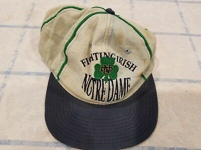 91053447eb447 Vintage Notre Dame Fighting Irish The Game Snapback Cap Hat 90 s Throwback