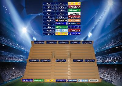 Champions League Style Stadium Stickers for Subbuteo/Zeugo Grandstands
