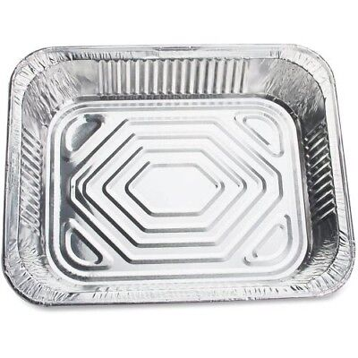 Genuine Joe Half-Size Disposable Aluminum Pan, 100 Pans (GJO10702)