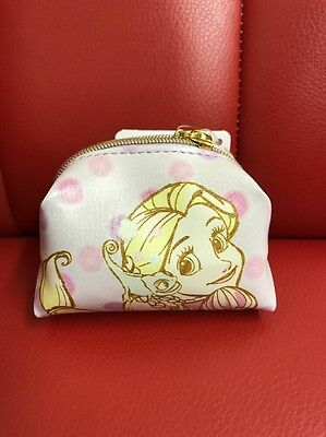 Disney Store Japan: Faux Leather Zippered Coin Pouch: Rapunzel & Pascal (A7)
