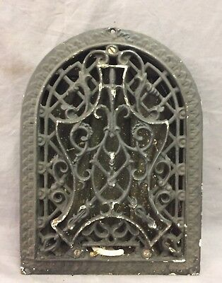 Antique Cast Iron Arch Decorative Heat Grate Wall Register 9X12 Dome Vtg  53-19D