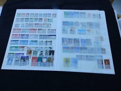 Eire - Ireland Mint & Used Stamp Collection of 400 stamps in 4 double page stock