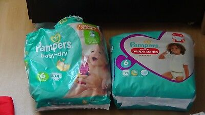 Lot Couches Et Couches-Culottes Pampers Taille 6