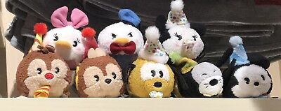 Mickeys 90th Birthday Tsum Tsum Set Of 8 Plush Disney Parks USA Authentic NEW