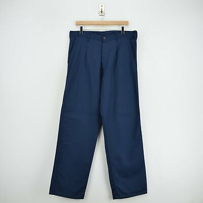 Vintage Workwear Blue French Style Work Utility Trousers Italy Made 34 W 32 L