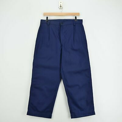Vintage Workwear Blue French Style Work Utility Trousers Italy Made 30 W 26 L