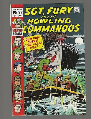 Sgt Fury And His Howling Commandos #87 Dum Dum Does It The Hard Way