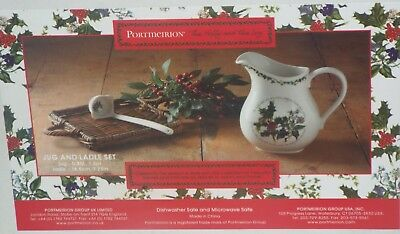 Portmeirion The Holly And The Ivy JUG AND LADLE SET SAUCE CUSTARD CREAM GRAVY