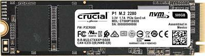 Crucial P1 500GB 3D NAND NVMe PCIe M.2 Type 2280 CT500P1SSD8 Internal SSD