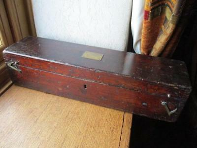 19th c Mahogany case for a telescope or scientific instrument by W F Stanley