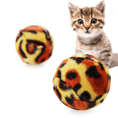Pet Cat Grinding Claws Leopard Ball Toys Creative Sound Cat Toys Play Chewing