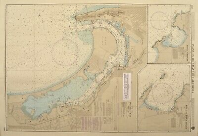 30 Old sea charts of Brasilian coasts