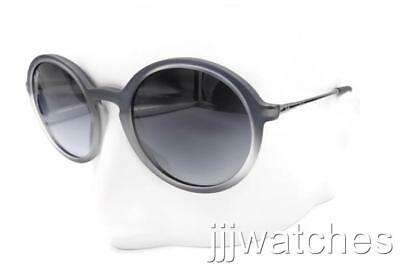 3368bf0f9dd61 New Ray-Ban Highstreet Round Gunmetal Gray Gradient Sunglasses RB4222 6226  8G 50