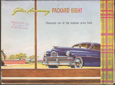 Large Brochure Advertising 1950S Packard Automobiles