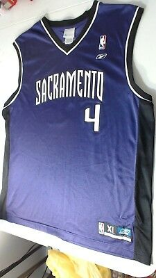 661023ac27e VTG Sacramento Kings Chris Webber  4 Reebok NBA Basketball Purple Jersey  Men XL