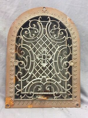 Antique Cast Iron Arch Gothic Heat Grate Wall Register 9X12 Dome Vtg 25-19C